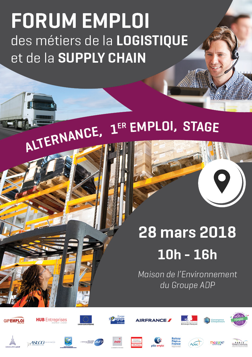 v nement forum emploi logistique et supply chain le 28 mars 2018. Black Bedroom Furniture Sets. Home Design Ideas
